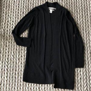 100% Merino Wool Black Cardigan